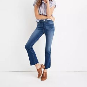 Madewell High Rise Cali Demi Boot Marco Wash Jeans